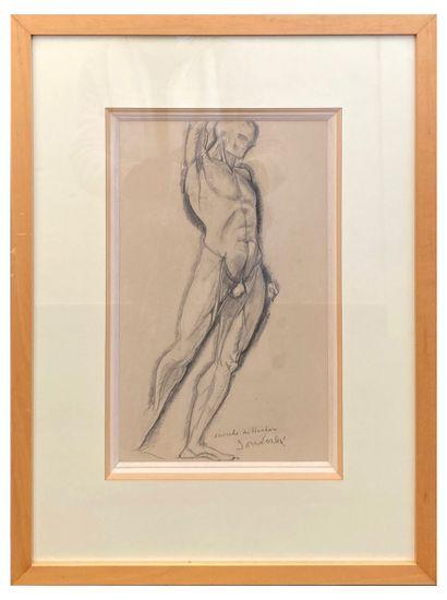 Jean Souverbie (1891-1981)  Écorché de Houdon...