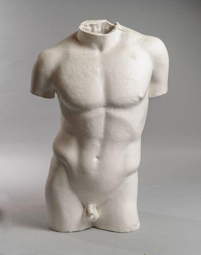 Plâtre d'atelier Buste d'homme H : 62 cm