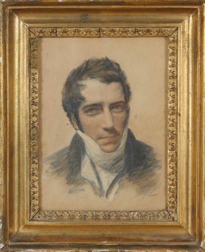 Ecole française du XIXe Portrait de jeune...