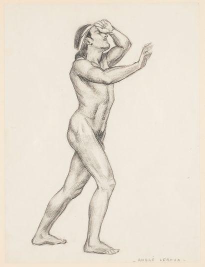André Leroux (1911-1997) Académie d'homme...
