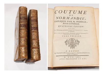 Coutumes de Normandie. in-4° 4eme ed. fait...