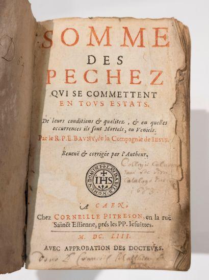 La Somme des péchés.  1604.