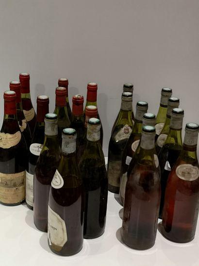 Ensemble de 22 bouteilles de Bourgogne Dont...