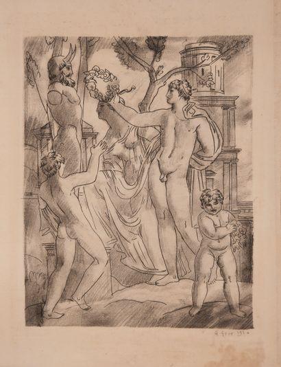 Gaston GOOR (1902-1977)  gravure en noir...