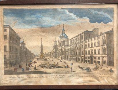 Le palais Doria Pamphilj et la place Navona...