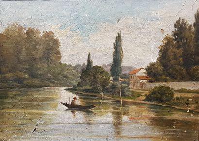 Ecole FRANCAISE de la fin du XIXe siècle....
