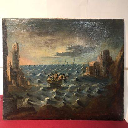 CARLO ANTONIO GAVELLA 1668-1738  Marine  Huile...