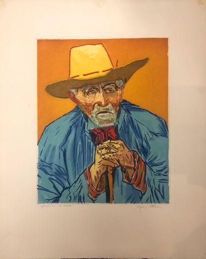 JACQUES VILLON (1875-1963)  Portrait de Van...