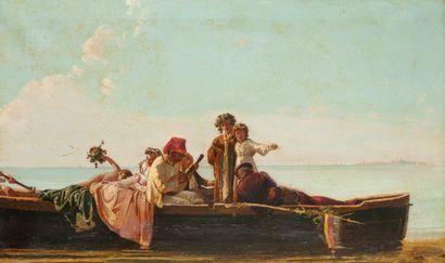 Dans le goût de Eduardo Dalbono (1841-1915),...