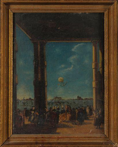 D'après Francesco GUARDI  L'ascension d'un...