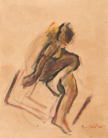 ENAV Bension (1925-2007)  Nu féminin  Huile...