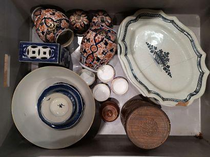 Lot de porcelaines diverses.  (En l'état...