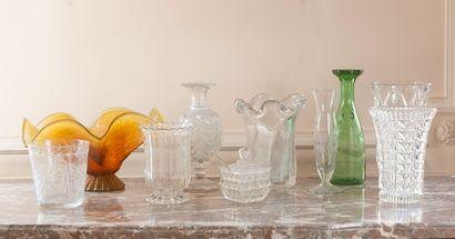 Lot de vases en verre