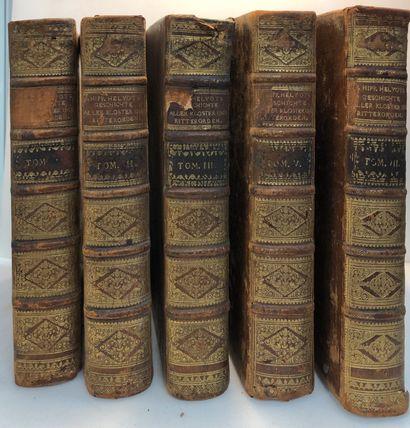 Lot de cinq volumes (d'une série de huit)...