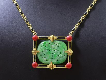 ANDRÉ RIVAUD 1892-1951  Rare collier en or...