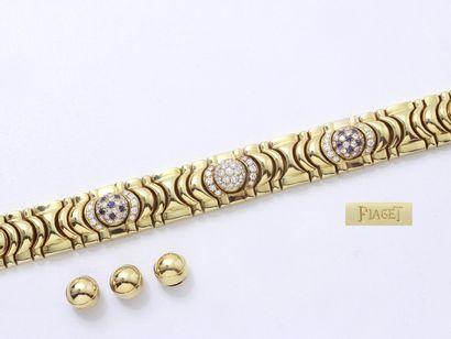 PIAGET  Bracelet articulé en or 750 millièmes...