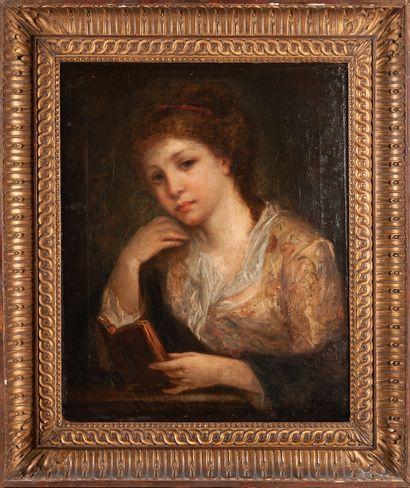 Ecole Française vers 1800  Jeune femme à...