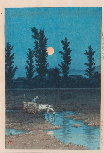 Japon, Xxe siècle  Charette au clair de lune...