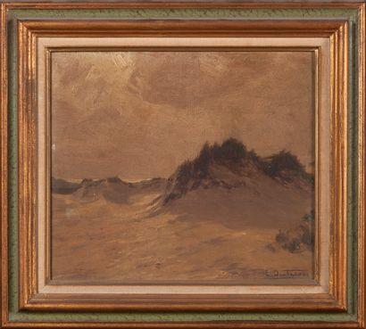 Ecole FRANCAISE du XIXe siècle  Dunes  Huile...