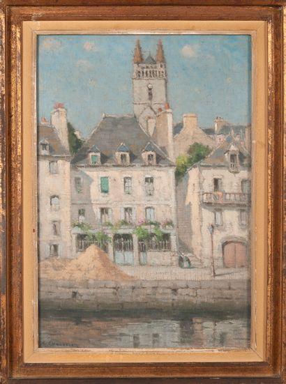 Gabriel CHAUVELON (1875-?)  Quai à Quimperlé...
