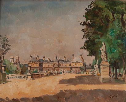 Edmond CERIA (1884-1955)  Le jardin du luxembourg...
