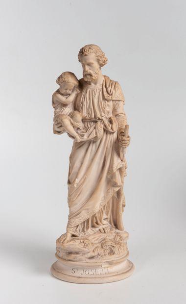 ARNOULT  Saint Joseph  Sculpture en plât...