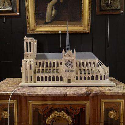 Maquette de la cathédrale Notre Dame de Paris...