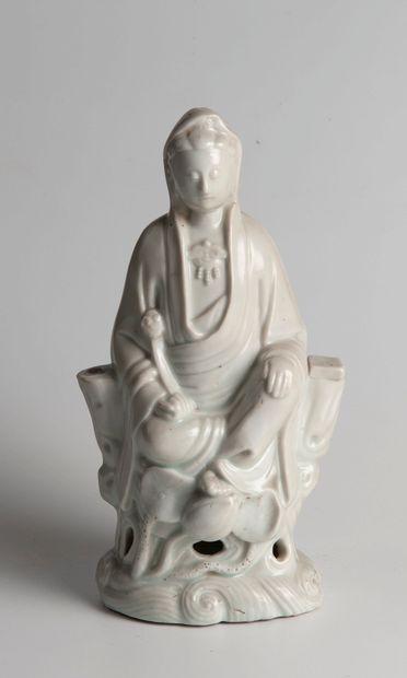 Chine, Fujian, Fours de Dehua  Guanyin en...