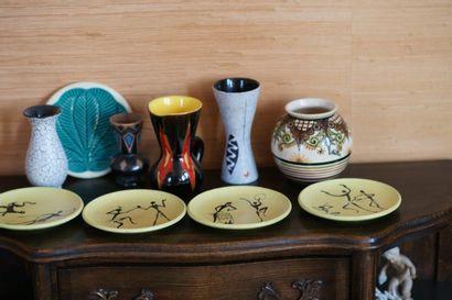 Lot de céramiques du Xxe siècle (Vallauris,...