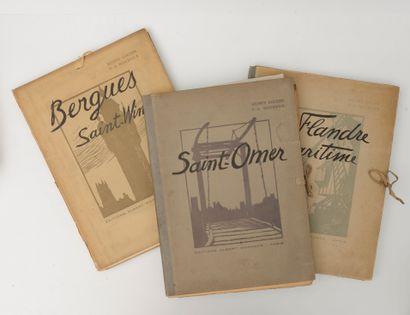 Lot de 3 volumes (en Flandres, Saint-Omer,...