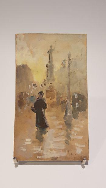 Luigi Loir (1845-1916)  La Républiques (Paris)...
