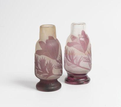 Etablissements GALLÉ Vase en verre multicouches...