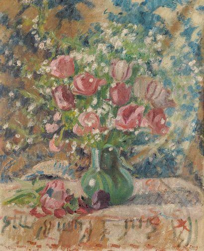 Jean PUY (1876-1960)  Bouquet de tulipes...