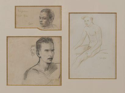 Gaston Goor (1902-1977)  Portraits  Trois...
