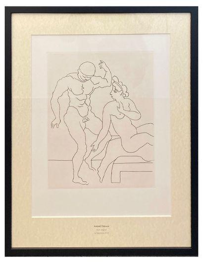 André Derain (1880-1954), Le Satyricon  Gravure...