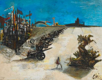 ex 7280-8  Ugo CLEIS (1903-1976)  Place d'armes...