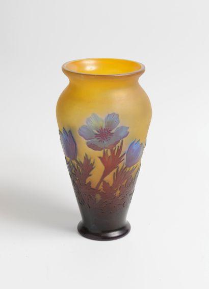 Etablissements GALLÉ  Vase de forme balustre...