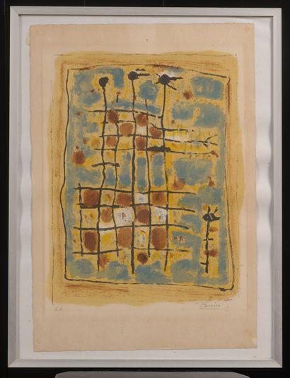 Roger BISSIERE (1886-1964)  Composition abstraite...