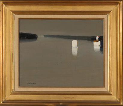 Pierre DOUTRELEAU (Né en 1938)  Paysage côtier...