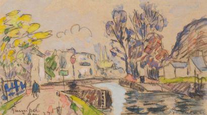 Paul SIGNAC 1863-1935  Vue de Quimper, 3...