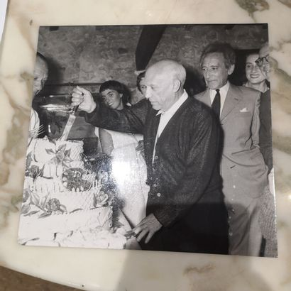 Photographie de Presse  Jean Cocteau et Pablo...
