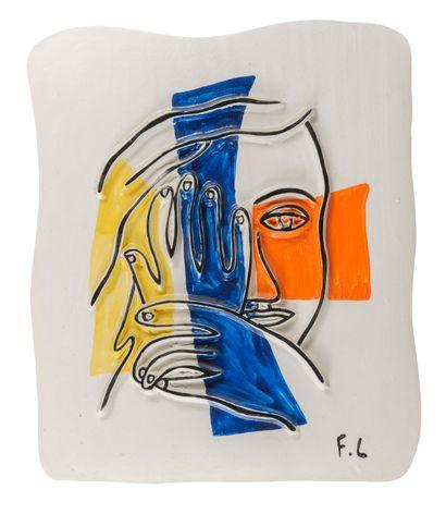 D'après Fernand LEGER (1881-1955)  Visage...