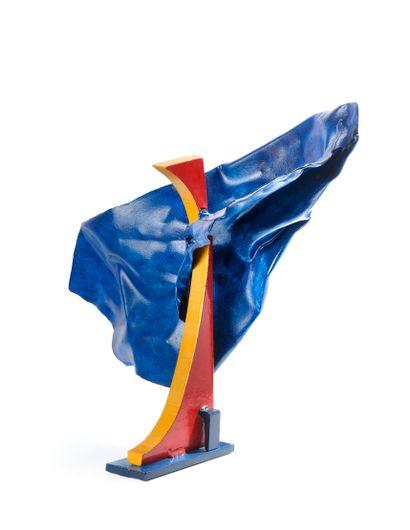 Alain VALTAT (né en 1947)  Sculpture bleue,...