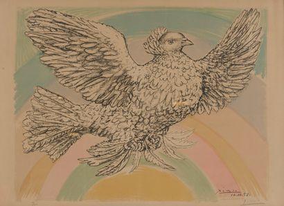 Pablo PICASSO (1881-1973)  Colombe volant...
