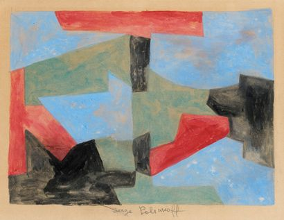 Serge POLIAKOFF (1900-1969)  Composition...
