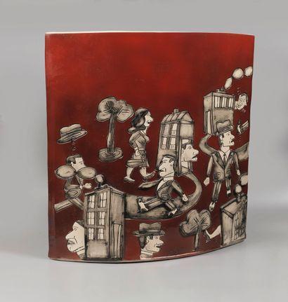 Antonio SEGUI (né en 1934)  Vase B6  Céramique...