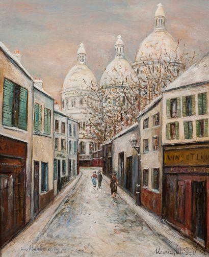 Maurice UTRILLO (1883-1955) Rue de Montmartre...