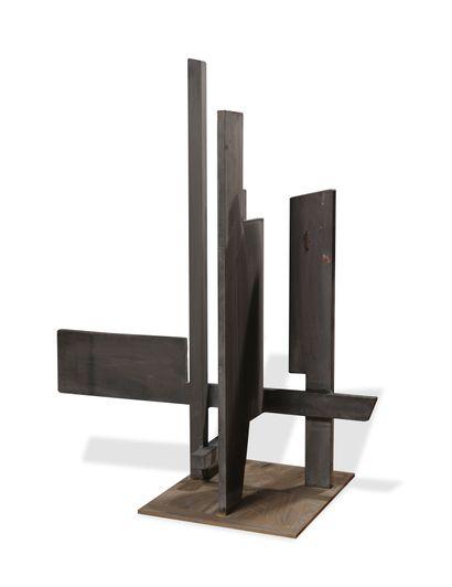 Francesco MARINO DI TEANA (1920-2012)  Structure architecturale  Acier patiné  Pièce...