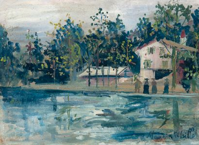 Maurice UTRILLO (1883-1955)  Promenade en...