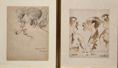 Georges MANZANA-PISSARO (1871 - 1961).  Deux...